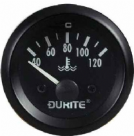 DURITE 52mm Oil Temperature gauge <br> Electrical sender unit<br>90 degree sweep<br> 12 or 24volt